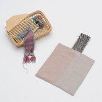 ウールのバンド織り