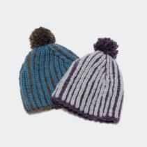 イギリスゴム編みの帽子