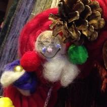 毛糸のクリスマスリースを作ろうレポート