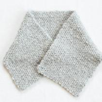 リフ編みのふかふかマフラー