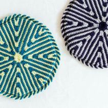 アフガン編みの円座