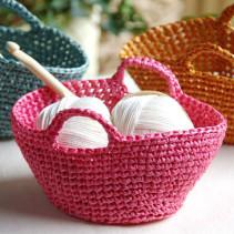 あまり糸で編むプチマルシェバッグ
