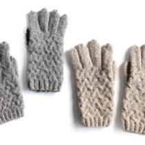 アルパカ素材の5本指の手袋