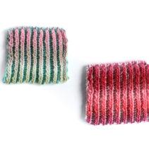 変わりイギリスゴム編みのスワッチ