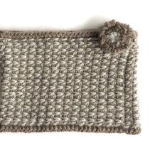 アフガン編みのスヌード