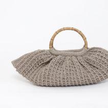 竹型ハンドルのヘンプバッグ