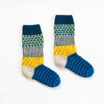 カラフル編み込み靴下
