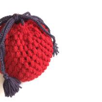 玉編みの巾着