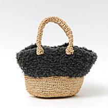 エコアンダリヤとウールファーのバッグ