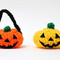ハロウィンかぼちゃの小物入れ