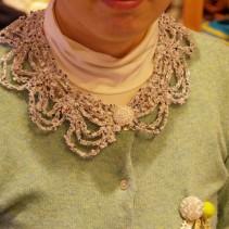 かぎ針編みのつけ衿レポート