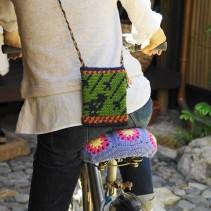 笹谷史子さんと編む、ことり柄の麻糸ポシェット
