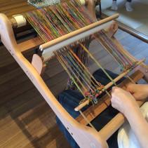 手織りのランチョンマット『ワークショップ』